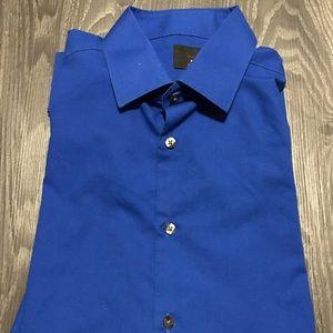 J. Ferrar Slim Fit 16-16 1/2, 32-33 Blue